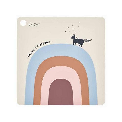 OYOY - Tischset Follow the rainbow 38 x 38 x 0.15 cm
