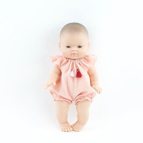 Paola Reina - Puppenkleid Musselin