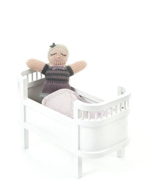 Smallstuff - Mini Doll Bed Rosalina Weiss