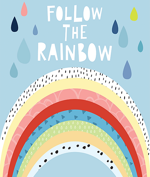 "Mini Learners - Poster ""FOLLOW THE RAINBOW"""