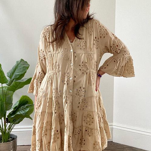TUNIC DRESS - CAMEL