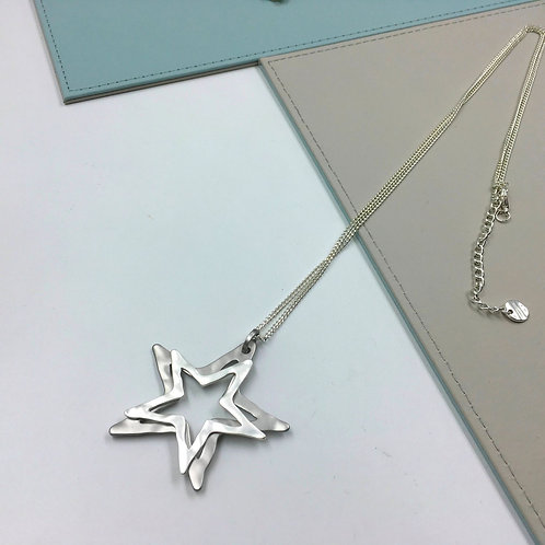 SILVER AND GREY NECKLACE