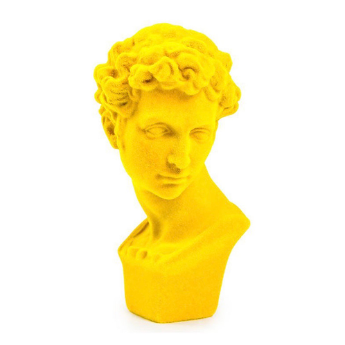 BRIGHT YELLOW FLOCKED BUST