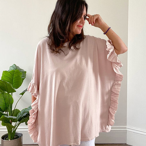 FRILL SIDE TOP - PINK