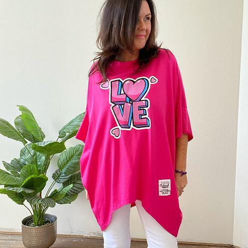 LOVE TOP - HOT PINK