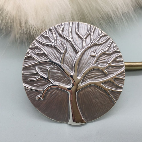 TREE OF LIFE MAGNETIC BROOCH - SILVER