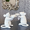 Thumbnail: PAIR OF WHITE MOUSE CANDLE HOLDERS