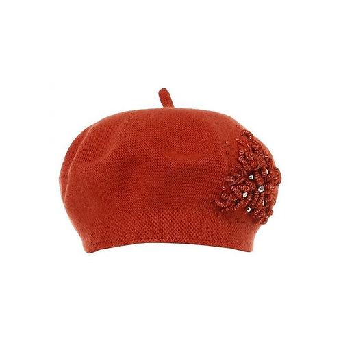 BURNT ORANGE WOOL HAT