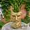 Thumbnail: TALL ANTIQUE GOLD CLASSICAL FACE PLANTER