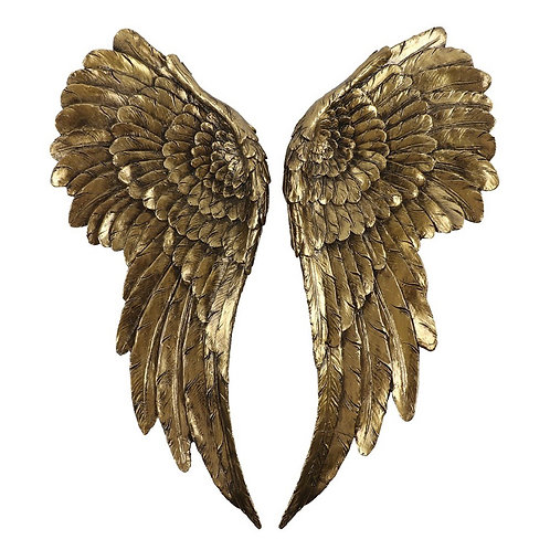 LARGE ANTIQUED GOLD ANGEL WINGS