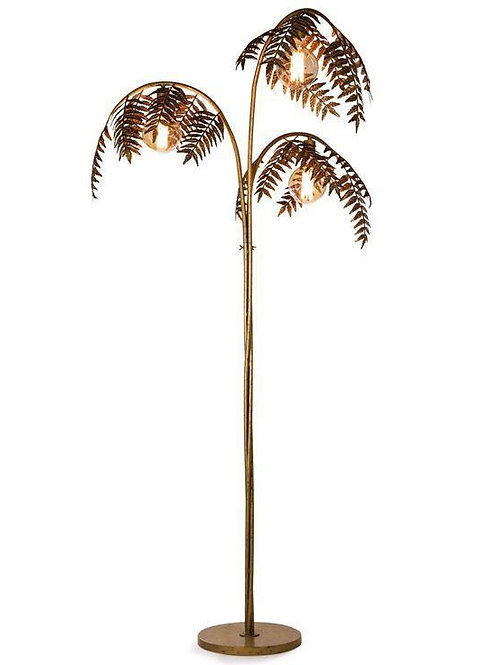 ANTIQUE GOLD PALM LEAF FLOOR LAMP