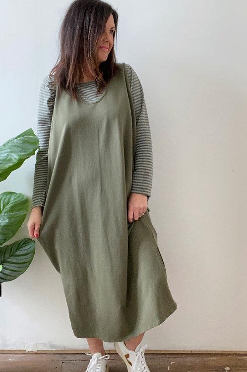 PINAFORE TWIN DRESS - KHAKI