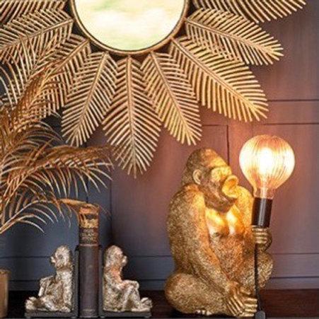 ELTON THE GORILLA LAMP - GOLD