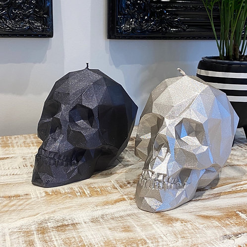 LARGE SKULL CANDLE BY CANDELLANA