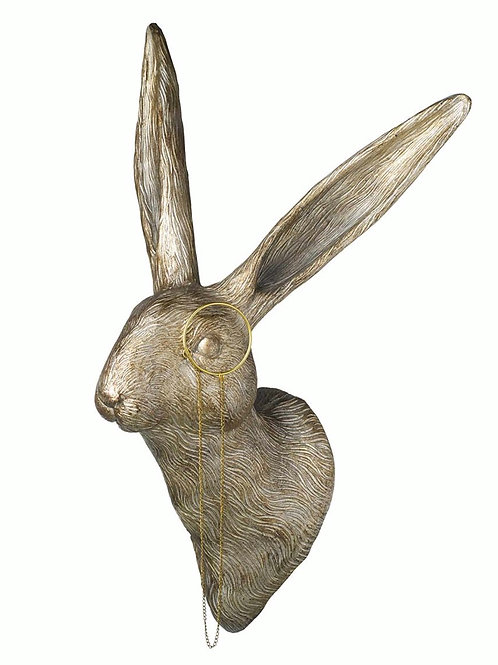 HARE WITH MONOCLE WALL ART