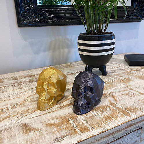 SMALL  SKULL CANDLE BY CANDELLANA