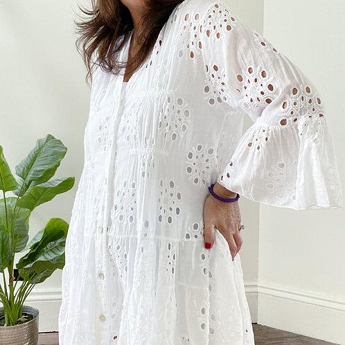 TUNIC DRESS - WHITE