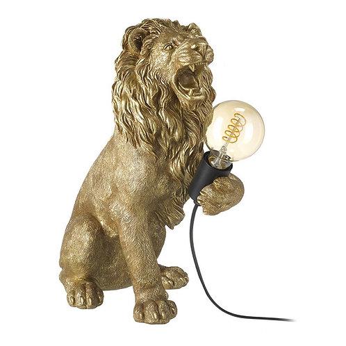 LEMMY THE LION LAMP - GOLD