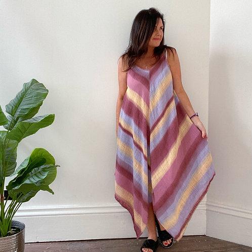 RAINBOW DRESS - ROSE/LILAC