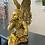 Thumbnail: ANTIQUE GOLD SITTING ANGEL FIGURE