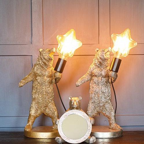 ELVIS THE BEAR LAMP -GOLD