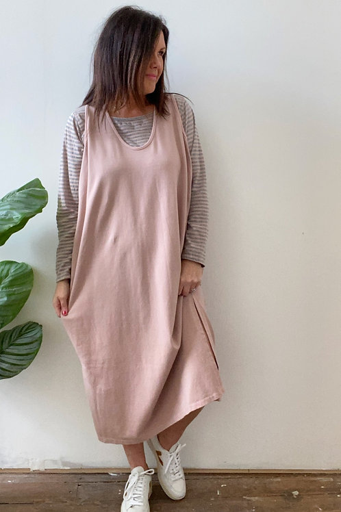 PINAFORE TWIN DRESS - PINK