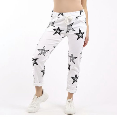 MADE IN ITALY STAR PRINT MAGIC TROUSERS