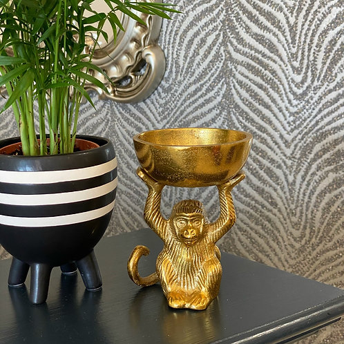 GOLD MONKEY AND BOWL