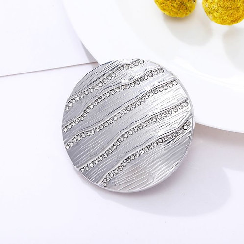 SILVER MAGNETIC BROOCH