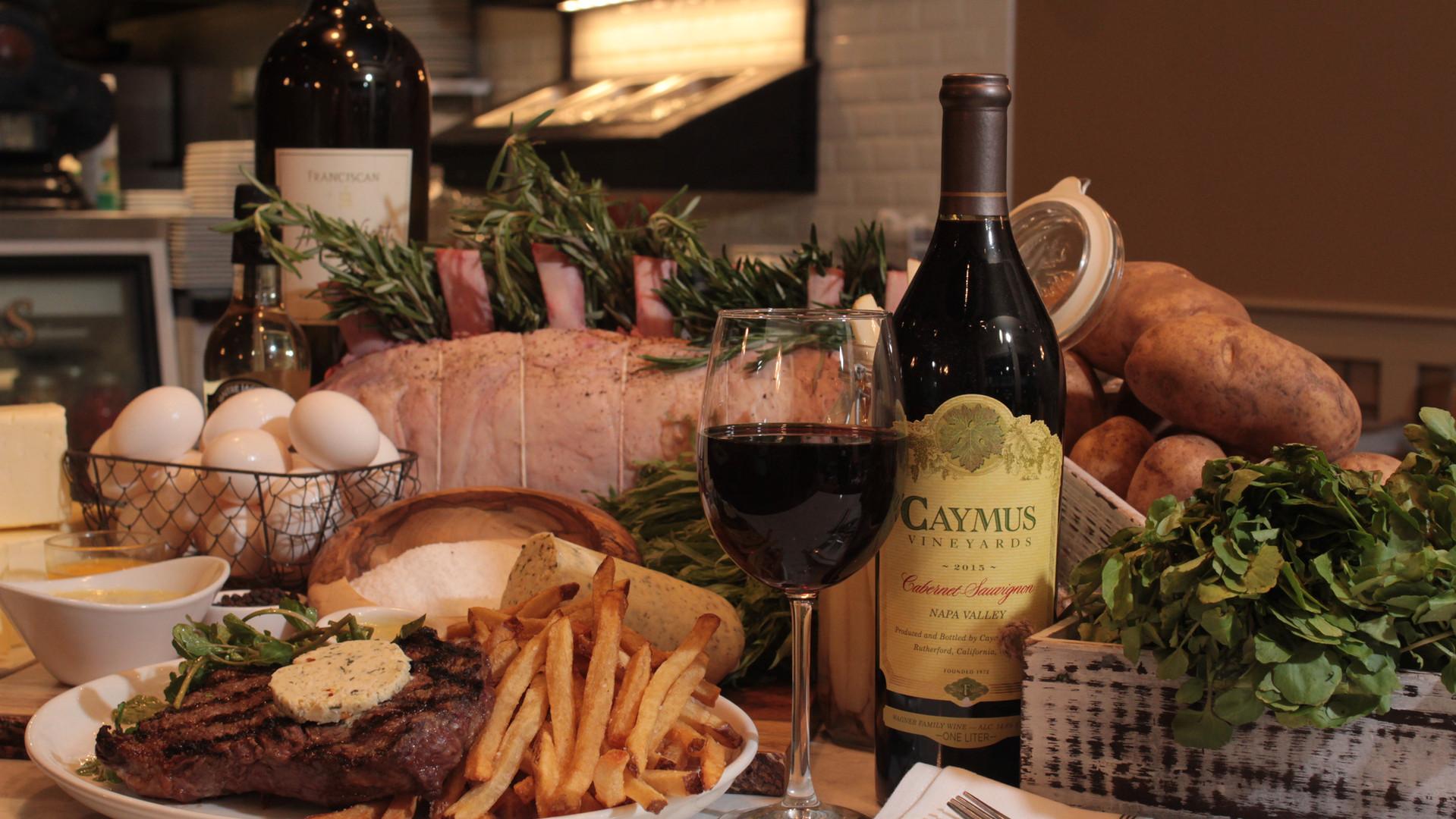 Steak Dinner with Cabernet