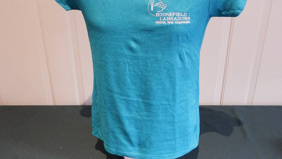 Ladies Teal Short Sleeve with embroidered logo