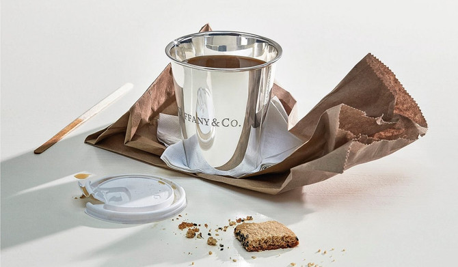 Tiffany & Co releases a paper cup – made of sterling silver
