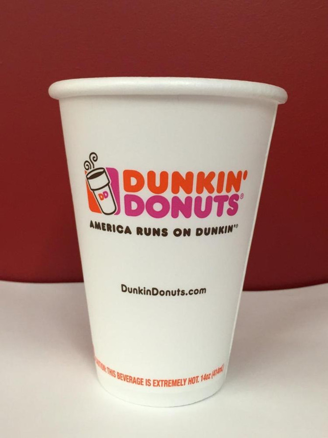 Good News  to Paper Cups Producers: Dunkin' Donuts Switches to Paper Cups