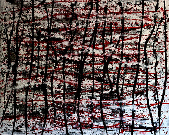 Abstract acrylic painting by Peter Keresztury