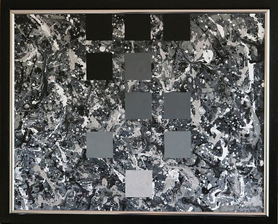 abstract acrylic geometric painting by Peter Keresztury