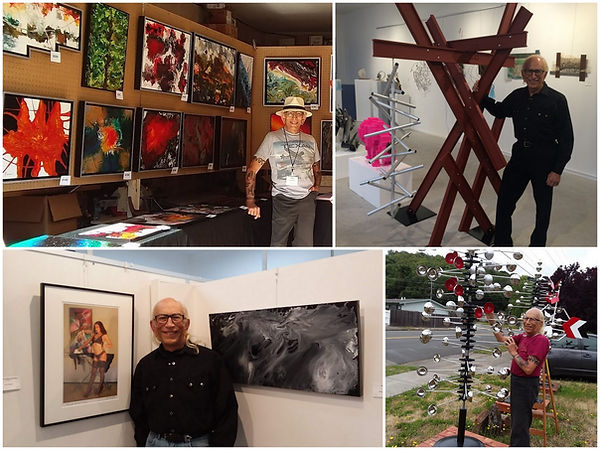 Marin County, California artist, Peter Keresztury, with his paintings, sculptures and photography