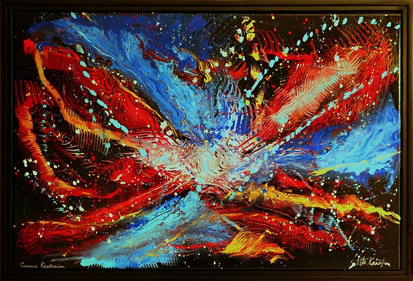 abstract painting by Peter Keresztury