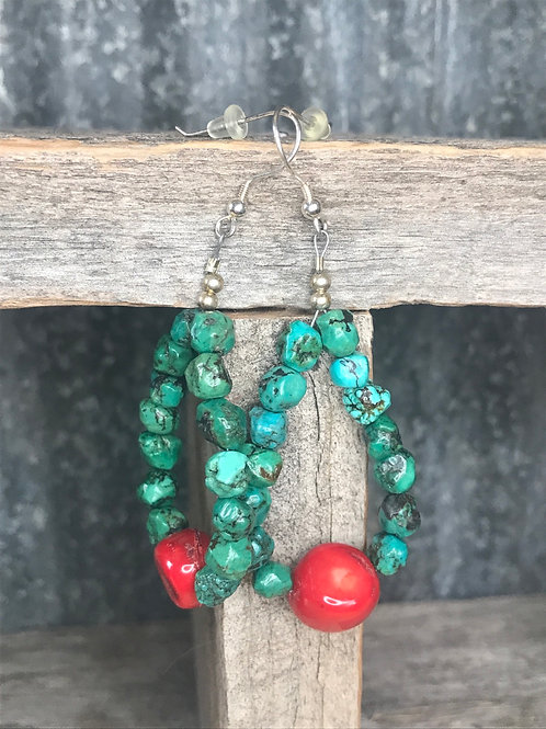 'Maryanne' turquoise earrings