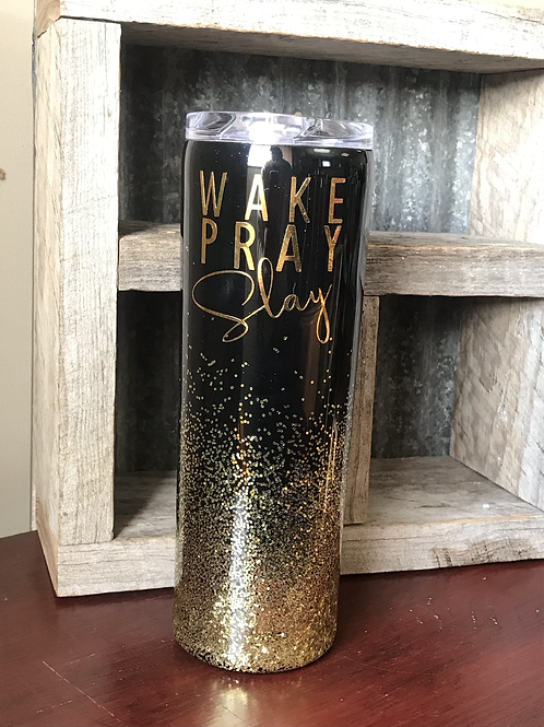 Wake Pray Slay travel mug