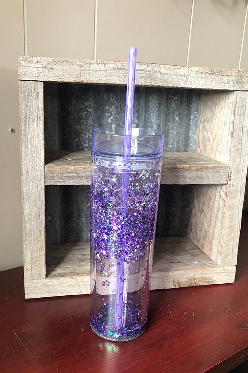 Purple snow globe cup