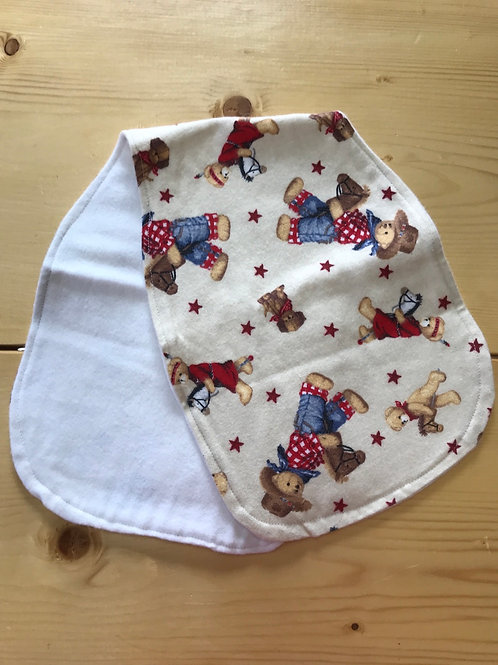 Teddy Bear burp cloth
