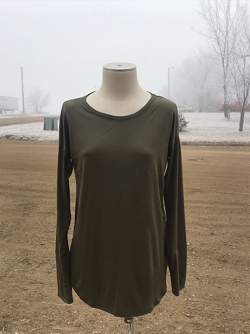 Olive Green longsleeve with thumb hole
