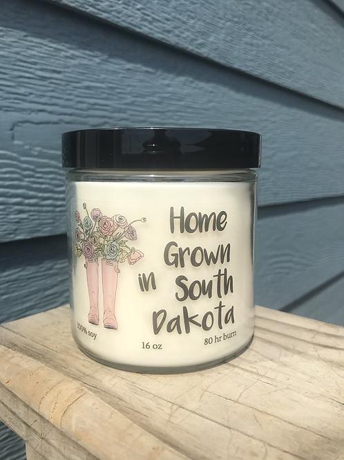 'Home grown in South Dakota' - 16 oz candle