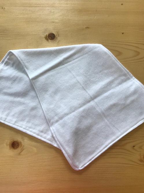 Plain white burp cloth