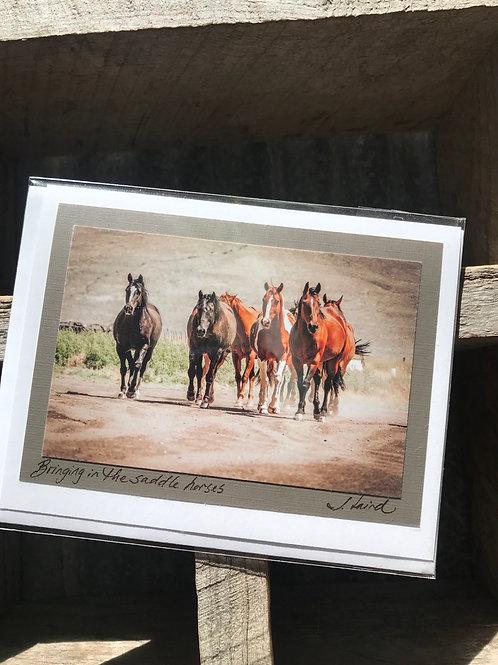 'Bringing in the saddle horses' -single