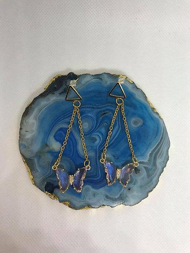Butterfly Glass Earrings