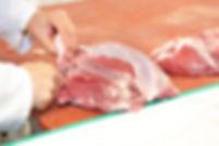 Rose kalfsvlees, rose, kalf, vlees, verwerking, vleesverwerking, vleesindustrie, snitten, snit, slachterij, slager, slacht