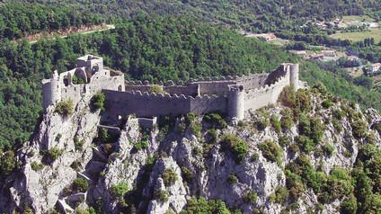 Château de Puilaurens / Замок Пюилоран. Каменная корона