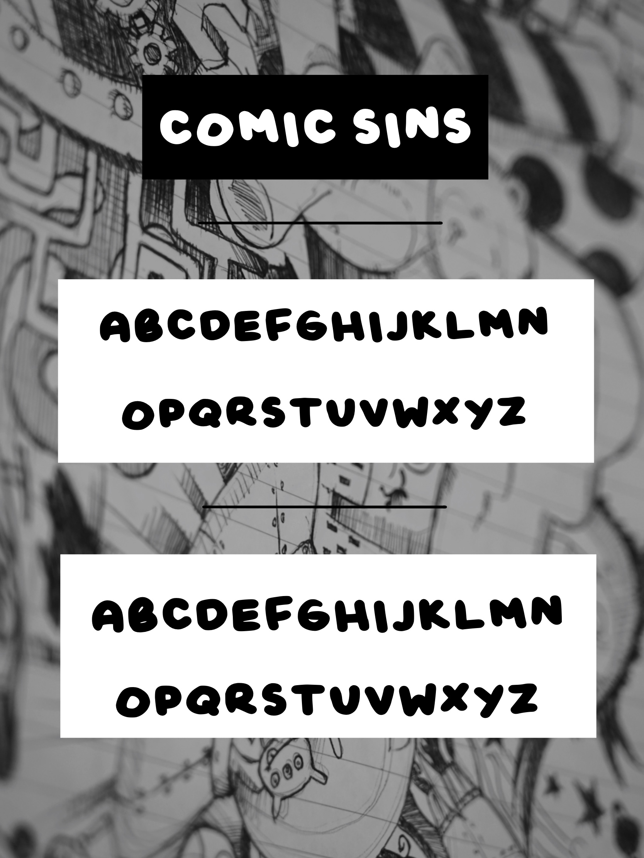 Comic Sins