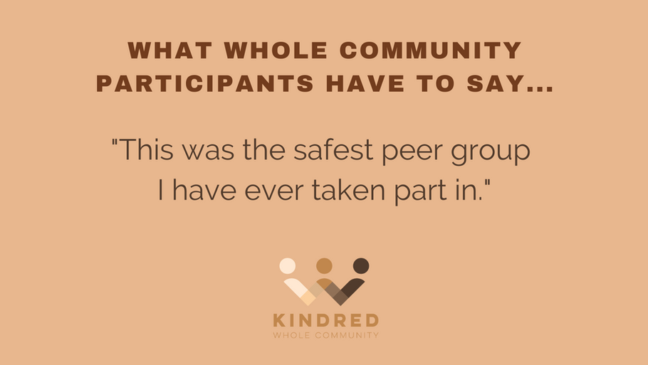 """""""This was the safest peer group I have ever taken part in."""""""